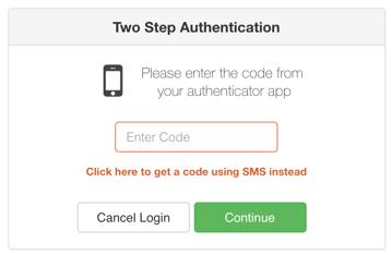 3 - SMS backup option