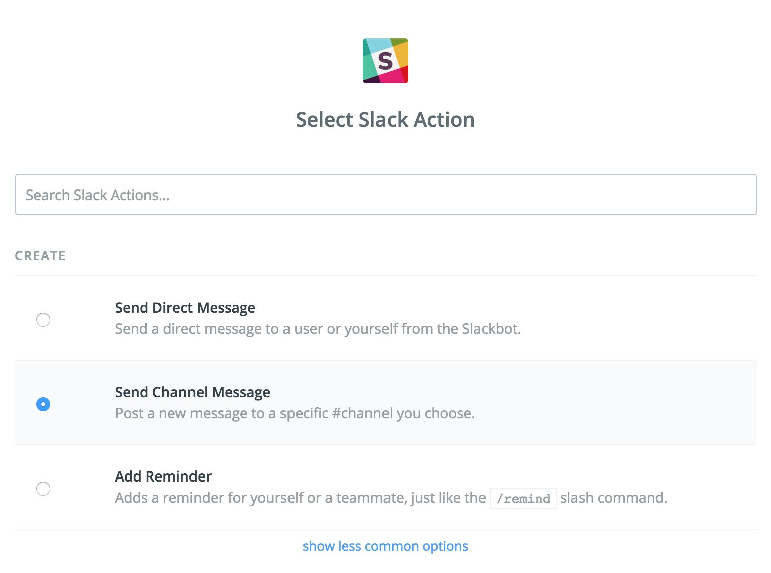 Slack Actions